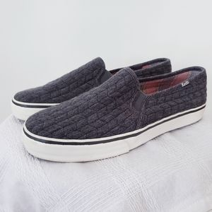 Keds cable knit slip on sneakers